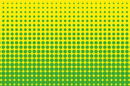 Comic pattern. Halftone background. Green, yellow color. Dotted retro backdrop, panels with dots, points, circles, rounds. Design element for web banners, posters, cards, wallpaper, sites.