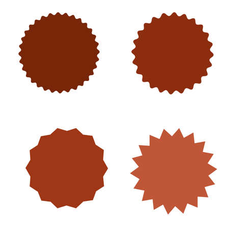 Set of starburst, sunburst badges, labels, stickers. Simple flat style. Vintage, retro. Design elements. A collection of different types icon vector illustration.