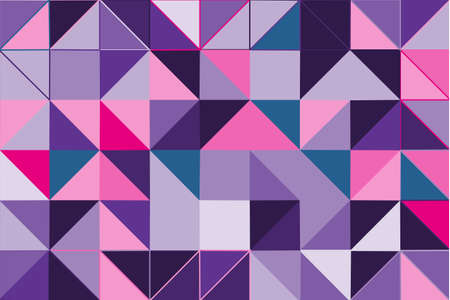 Ultra violet polygonal abstract background. Low poly crystal pattern. Design with triangle shapes. Pattern suitable for backgrounds, Wallpaper, screen savers, covers, print, business cards, posters