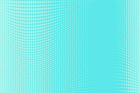 Halftone background. Digital gradient. Abstract Dotted pattern with circles, dots, point small scale. Design element for web banners, posters, cards, wallpapers, sites, panels. Bright blue, mint color