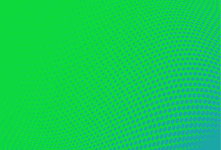 Abstract futuristic halftone pattern. Wavy background. Dotted backdrop with circles, dots, point small scale. Design element for web banners, posters, cards, wallpapers, sites. Green,blue color Ilustrace