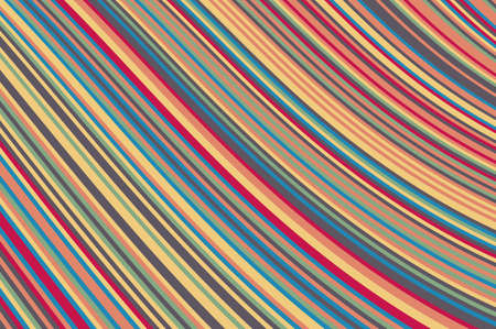 Abstract background with oblique wavy lines. Vector illustration. Colorful rainbow color