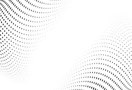 Abstract futuristic halftone pattern. Comic background. Dotted backdrop with circles, dots, point small scale. Design element for web banners, posters, cards, wallpapers, sites. Black and white color