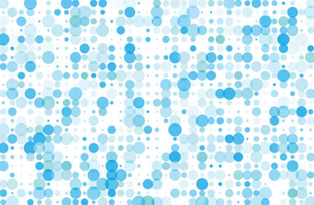 Dotted background with circles, dots, point different size, scale. Halftone pattern. Design element for web banners, posters, cards, wallpapers, sites, panels. Blue color Vector illustration. Illustration