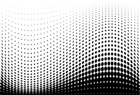 Halftone wave pattern. Digital gradient. Dotted background with circles, dots, point large scale. Design element for web banners, posters, cards, wallpapers, sites, panels.