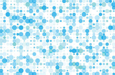 Dotted background with circles, dots, point different size, scale. Halftone pattern. Design element for web banners, posters, cards, wallpapers, sites, panels. Blue color Vector illustration Illustration