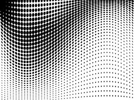 Abstract halftone pattern futuristic panel. Gunge dotted backdrop with circles, dots, point. Design element for web banners, posters, cards, wallpapers, sites black and white color. Ilustrace