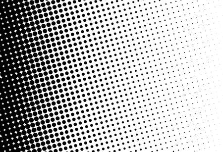 Abstract futuristic halftone pattern. Comic background. Dotted backdrop with circles, dots, point large scale. Design element for web banners, posters, cards, wallpapers, sites. Black and white color Фото со стока - 95282356