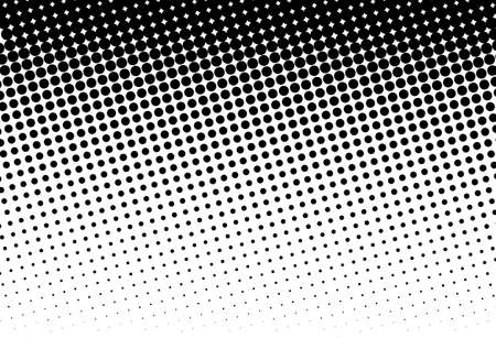 Abstract futuristic halftone pattern with circles, dots, point large scale in Black and white color Иллюстрация