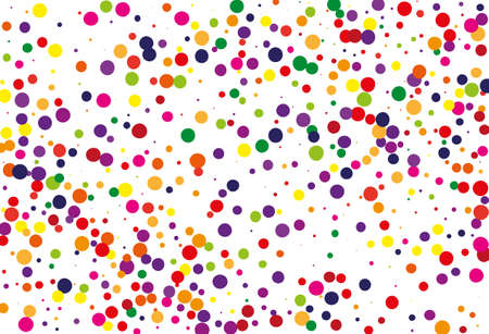 Festival pattern with color round glitter, confetti. Random, chaotic polka dot. Bright background  for party invites, wedding, cards, phone Wallpapers. Vector illustration. Typographic design. Illusztráció