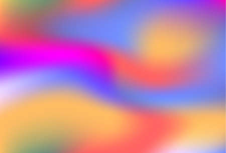 Colorful holographic background, bright fluid liquid, neon holography texture. Hologram glitch effect smooth blur backdrop. A trendy pattern for screensaver, banners, wallpapers for your phone.
