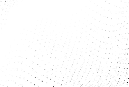 Abstract wavy halftone pattern. Futuristic panel. Grunge dotted backdrop with circles, dots, point. Design element for web banners, posters, cards, wallpapers, sites. Black and white color