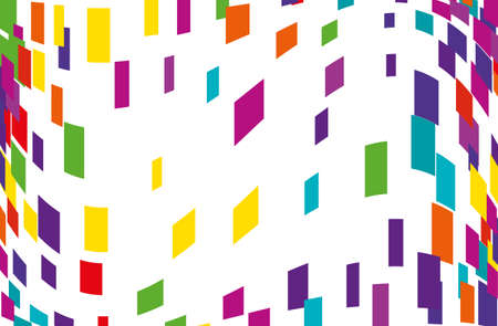 Abstract geometric pattern with multicolored squares, rectangles. Design element for web banners, posters, cards, wallpapers, backdrops, panels  Vector illustration Illustration