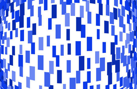 Abstract geometric pattern with squares, rectangles. Design element for web banners, posters, cards, wallpapers, backdrops, panels Blue color Vector illustration