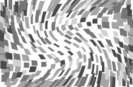 Abstract geometric pattern with  gray squares, rectangles. Ilustração