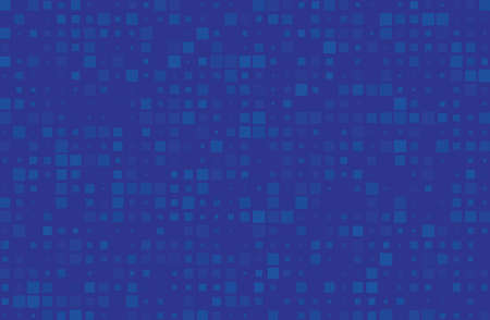 Abstract geometric pattern with small squares different size, scale. Design element for web banners, posters, cards, wallpapers, backdrops, panels Blue color Vector illustration