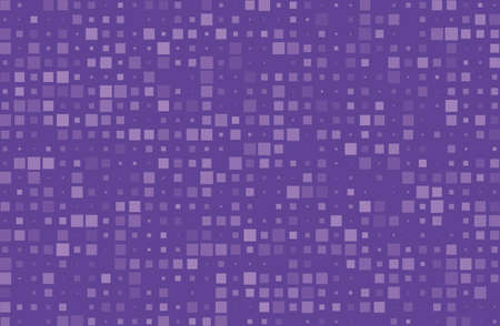 Abstract geometric pattern with small squares different size, scale. Design element for web banners, posters, cards, wallpapers, backdrops, panels. Violet, purple color Vector illustration Vettoriali