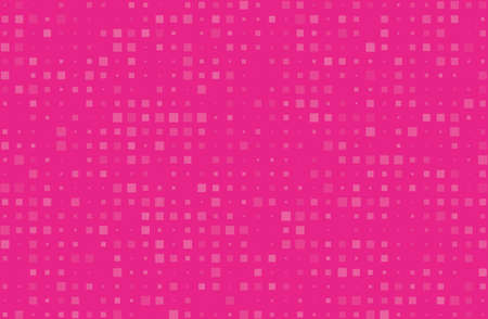 Abstract geometric pattern with small squares different size, scale. Design element for web banners, posters, cards, wallpapers, backdrops, panels Pink color Vector illustration