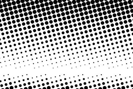 Abstract monochrome halftone pattern. Futuristic panel. Dotted backdrop with circles, dots, point. Design element for web banners, posters, cards, wallpapers, sites. Black and white color Ilustração