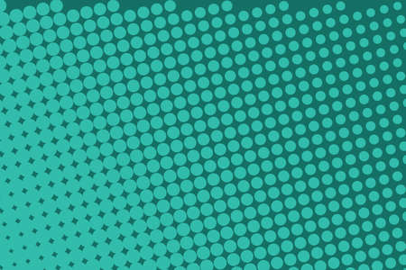Green halftone background. Digital gradient. Dotted pattern with circles, dots, point large scale. Design element for web banners, posters, cards, wallpapers, sites, panels. Vector illustration Ilustração