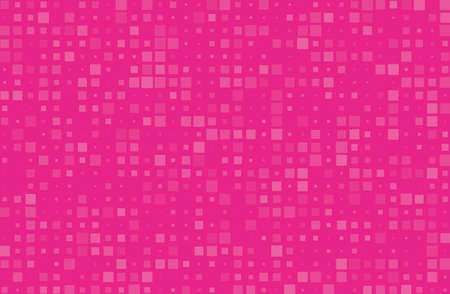 Abstract geometric pattern with small squares different size, scale. Design element for web banners, posters, cards, wallpapers, backdrops, panels Pink color Vector illustration Stock fotó - 96892777