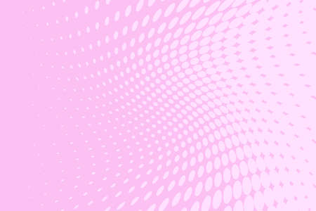 Pink halftone background on Digital gradient. Wavy dotted pattern with circles, dots, point. Ilustração