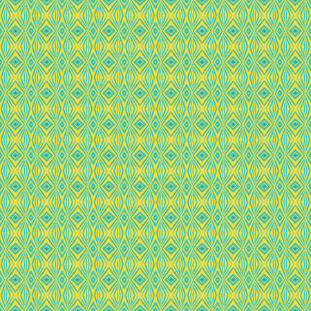 Ancient Geometric pattern in repeat. Fabric print. Seamless background, mosaic ornament, ethnic style. Design for prints on fabrics, textile, covers, paper, wallpaper, interior, patchwork, wrapping. 写真素材