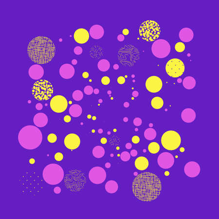 Background with circles, dots and points of different scale. Abstract geometric pattern.