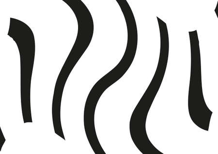 Abstract wavy lines. Curved black and white stripes. Vector illustration  イラスト・ベクター素材