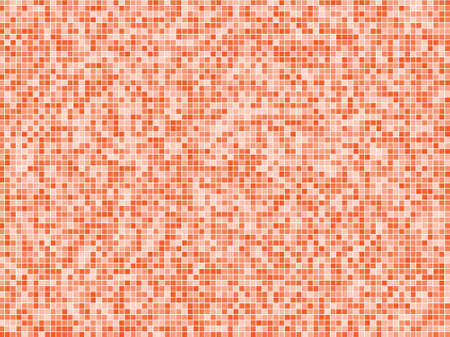 Abstract geometric pattern with small squares. Design element for web banners, posters, cards, wallpapers, backdrops, panels Different shades of orange on white color Vector illustration