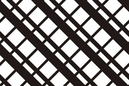 Geometric seamless pattern with intersecting lines, grids, cells. Criss-cross background in traditional tile style. For printing on fabric, paper, wrapping, scrapbooking, banners Vector illustration
