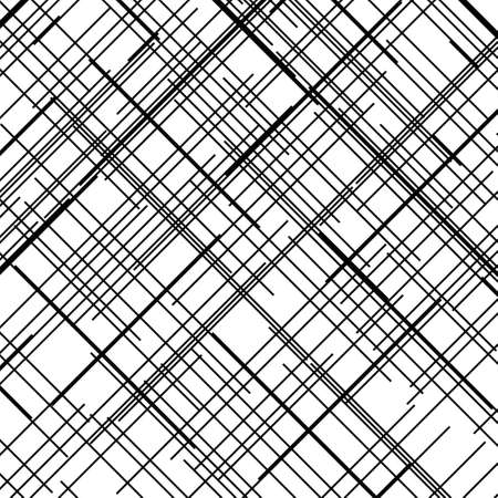 Criss cross pattern. Texture with intersecting straight lines. Design element to create abstract grunge, textured backgrounds, layouts. Digital hatching. Vector illustration