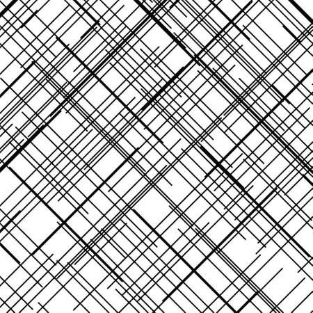 Motivo a croce. Texture con linee rette che si intersecano. Elemento di design per creare grunge astratto, sfondi testurizzati, layout. Tratteggio digitale. Illustrazione vettoriale
