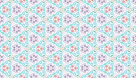 Design for printing on fabric, textile, paper, wrapper, scrapbooking. Traditional tile ornament in ethnic style. Seamless pattern. Authentic geometric background  in repeat.
