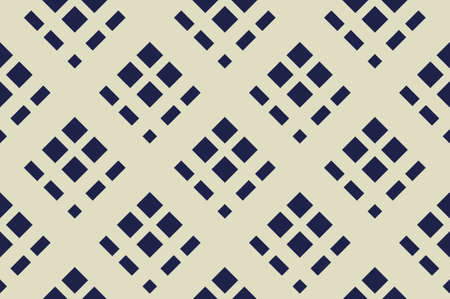 Geometric seamless pattern with  Criss-cross background in traditional tile style.