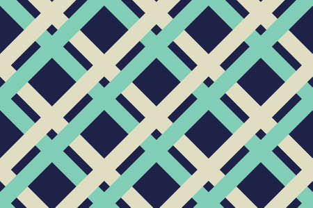 Geometric seamless pattern with intersecting lines with Criss-cross background in traditional tile style.