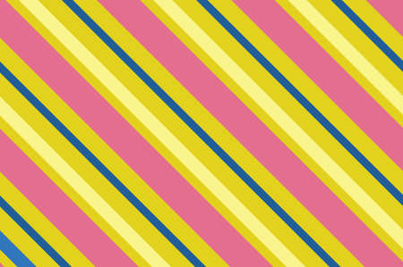 Seamless pattern. Pink Stripes on yellow background. Striped diagonal pattern For printing on fabric, paper, wrapping, scrap booking, websites, banners.