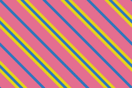 Seamless pattern. Pink Stripes on yellow background. Striped diagonal pattern For printing on fabric, paper, wrapping, scrapbooking, websites, banners Background with slanted lines Vector illustration Vectores