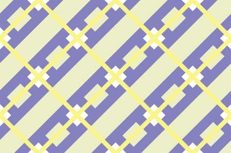 Geometric seamless pattern with intersecting lines, grids, cells. Crisscross violet background in traditional tile style. For printing on fabric, paper, wrapping, scrap booking.