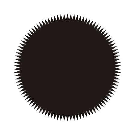 Vintage  label, sticker. Vector starburst, sunburst badge. Black on white color. Simple flat style Design elements. Illustration