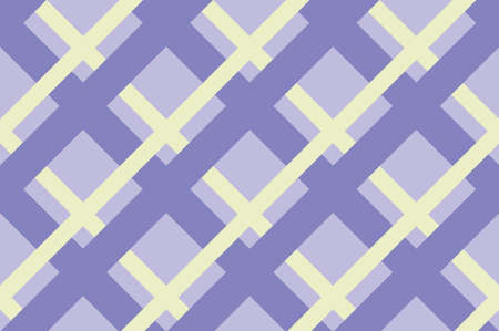 Geometric seamless pattern with intersecting lines, grids, cells. Criss-cross violet background in traditional tile style. For printing on fabric, paper, wrapping, scrapbooking Vector illustration