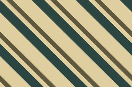 Seamless pattern. Dark green stripes on beige background. Striped diagonal pattern For printing on fabric, paper, wrapping, scrapbooking, banners Background with slanted lines Vector illustration Illustration