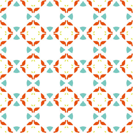 Ancient Geometric pattern in repeat. Fabric print. Seamless background, mosaic ornament, ethnic style. Design for prints on fabrics, textile, covers, paper, interior, patchwork, wrapping. Stock Photo