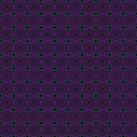 Violet geometric background in traditional tile style. Design for printing on fabric, paper, wrapper, scrapbooking, patchwork, feedsack. Seamless pattern.