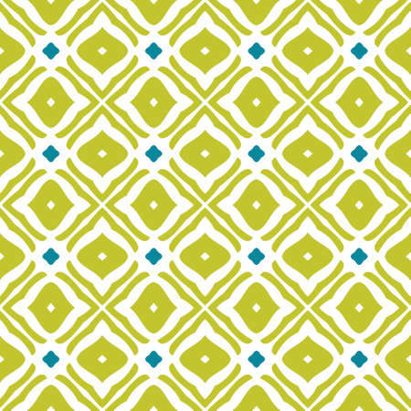 Bright geometric background in traditional tile style. Design for printing on fabric, paper, wrapper, scrapbooking, patchwork, feedsack. Seamless pattern.