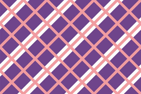 Criss-cross background in traditional tile style. For printing on fabric, paper, wrapping, scrapbooking, banners Geometric seamless pattern with intersecting lines, grids, cells.  Vector illustratio 向量圖像