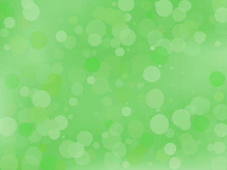 Green gradient background with bokeh effect. Abstract blurred pattern. Overlapping transparent bubbles, circles, point. Light backdrop for banners, social media, screensavers Vector illustration