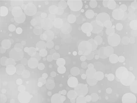 Gray-white gradient background with bokeh effect. Abstract blurred pattern. Overlapping transparent bubbles, circles, point. Light backdrop for banners, social media, screensavers Vector illustration Иллюстрация