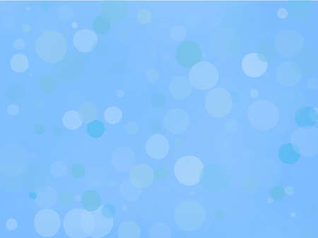 Blue gradient background with bokeh effect. Abstract blurred pattern. Overlapping transparent bubbles, circles, point. Light backdrop for banners, social media, screensavers Vector illustration Ilustração