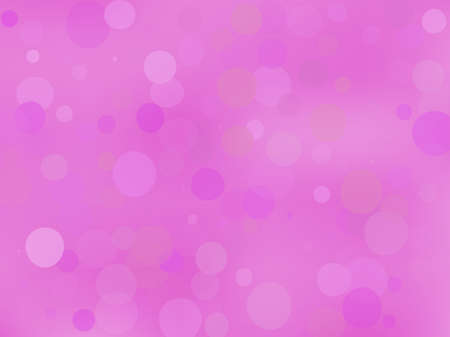 Pink-violet gradient background with bokeh effect. Abstract blurred pattern. Overlapping transparent bubbles, circles, point. Light backdrop for banners, social media, screensavers Vector illustration Ilustração